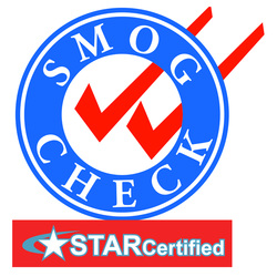 STAR Certified Smog Check Sign